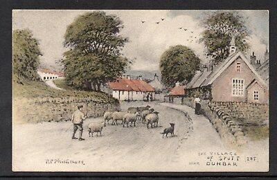 The Village Of Spott Near Dunbar East Lothian Unposted R P Phillimore Card 285