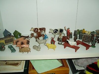 Vintage Lead Farm Animals/people/accessories