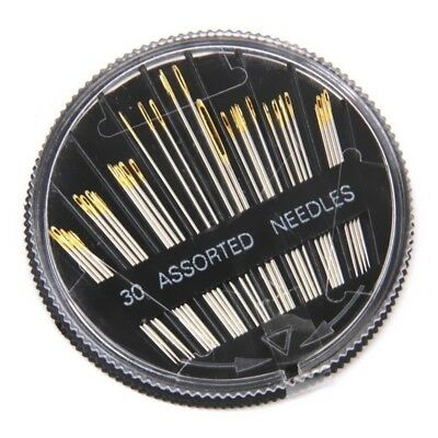 30pcs Assorted Hand Sewing Needles Embroidery Mending Craft Quilt Sew Case B SHJ