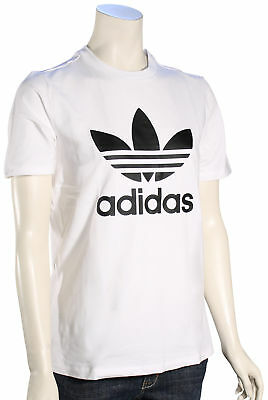 Adidas Women's Trefoil T-Shirt - White / Black - New