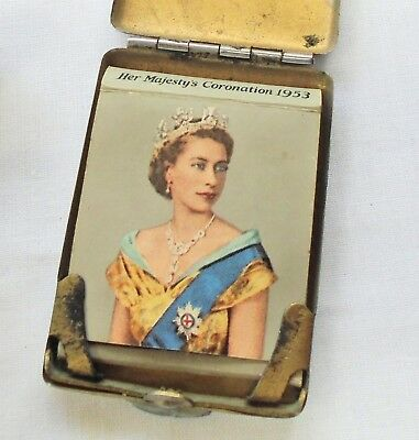 Collectable silver metal Elizabeth II coronation 1953 Bryant & May match book