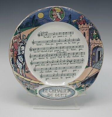 Sarreguemines Chansons Et Rondes French Songs Set Of 6 Plates