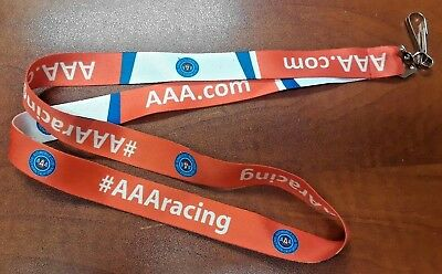 AAA Racing Lanyard NEW Red White Blue Reversible Keychain