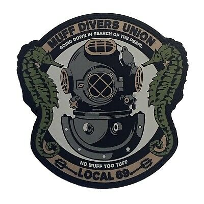 """""""Muff Diver's Union"""" Tactical PVC Morale Patch with VELCRO® Brand Backing"""