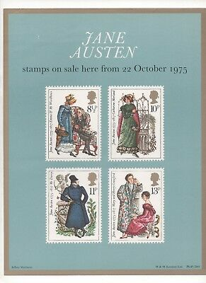1975 Post Officel A4 Poster Grille Card - Jane Austen