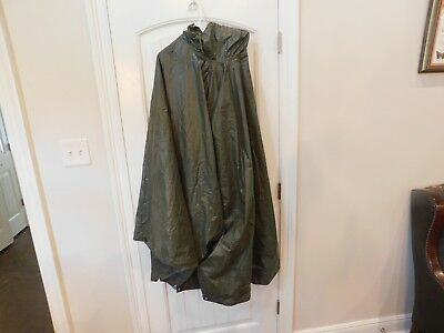 US Army Poncho Early Vietnam Nice Clean 1964 Color Great Snap Eyelets in Strong