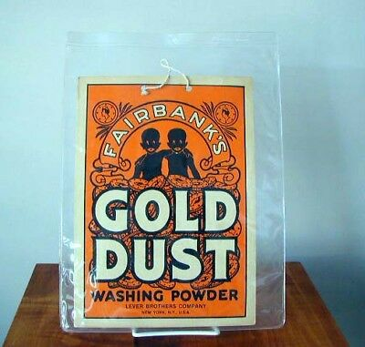 1910 Gold Dust Black Twins Country Store Display Fairbanks Laundry Powder Soap