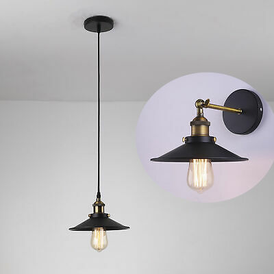 Industrial Vintage Black Metal Wall Lamp Light Rustic Sconce Brass Ic-7003