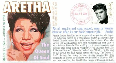 """COVERSCAPE computer generated """"Queen of Soul"""" Aretha Franklin memorial cover"""