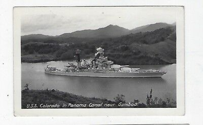 Panama Canal Zone USS Colorado in Panama Canal c. 1930