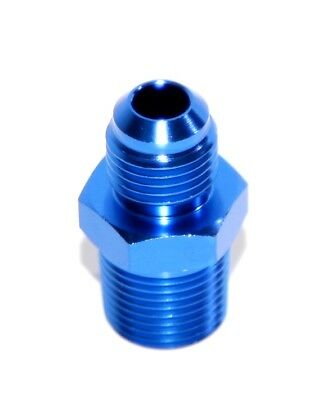 """BLUE 6AN AN-6 to 3/8"""" NPT Male Thread Straight Aluminum Fitting Adapter"""