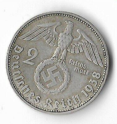Rare Old Antique Silver 1938 WWII MUNICH Germany Eagle Great War Collection Coin