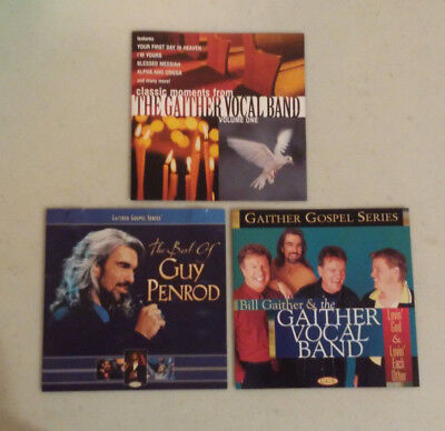 3 CD lot Gaither Vocal Band Classic Moments Lovin God Each Other Best Guy Penrod