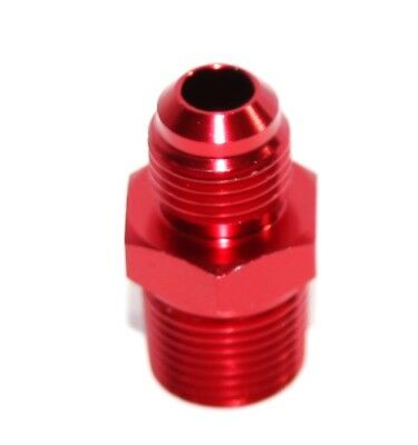 """RED 6AN AN-6 to 3/8"""" NPT Male Thread Straight Aluminum Fitting Adapter"""