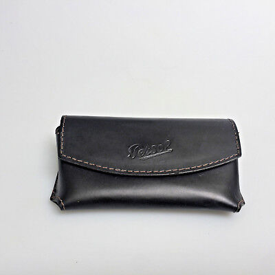 Persol Sunglasses Case Only Black Faux Leather Softcase for Folding Glasses