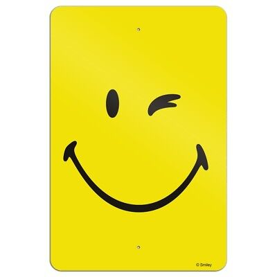 Smiley Smile Happy Wink Yellow Face Home Business Office Sign