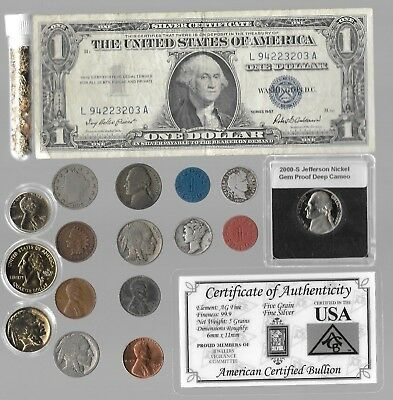 Silver Dollar Barber Mercury Liberty Indian War Nice US Coin Collection Lot Gold
