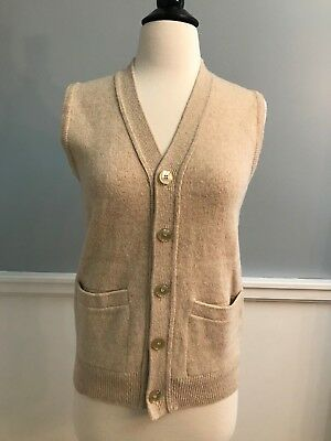 True Vintage Women's 1940s Sweater Vest Beige Frances Stillman - XS/S #177