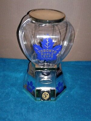 Toronto Maple Leafs Coin Operated Gumball Machine New