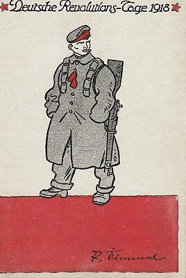 Fantastic 1918 Germany revolution/Spartacist 1918 Postcard.