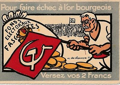 Superb Partie Ouvrier-Paysan (POP), France Communist Art PC. 1929