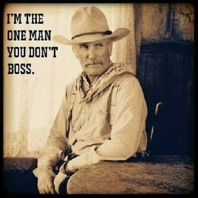"""Lonesome Dove Gus Quote refrigerator magnet  3 1/2 x 3 1/2"""""""