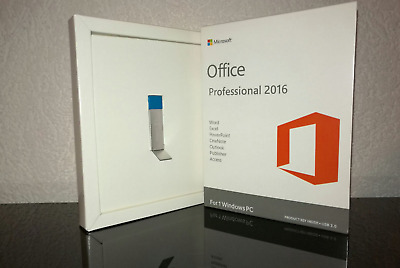 Microsoft Office 2016 Professional Plus Pro MS 32/64 Bit For Windows + Key