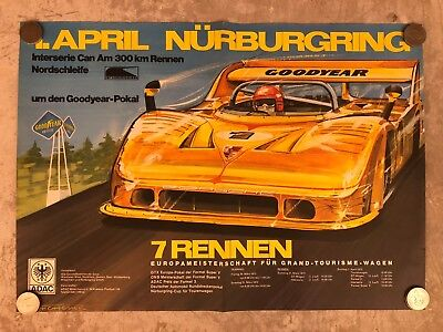 1973 Porsche 908 Spyder interserie Can-Am Nurburgring Event Poster RARE! Awesome