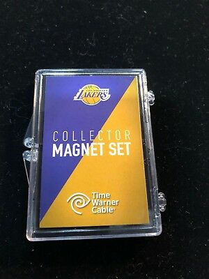 LOS ANGELES LAKERS 3 Piece Collector Magnet Set in Case - NEW - NBA