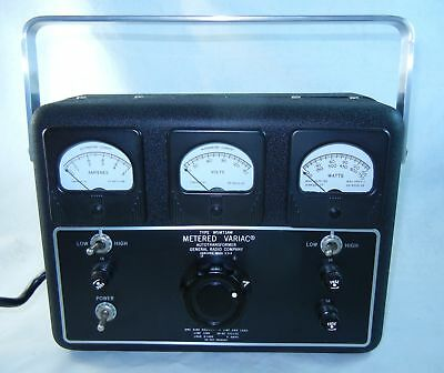 General Radio Metered Variac W5MT3AW RESTORED Auto Transformer Tested Working