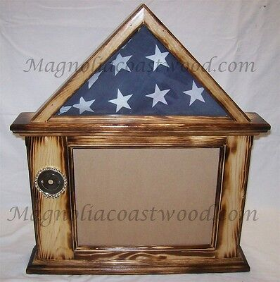 3X5 FLAG & Certificate Document Display Case - Solid Cherry - Iraq ...