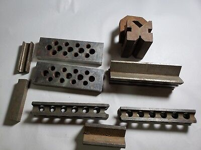 Lot of Machinist tools V Block Blocks Tooling Holders and More Metalworking