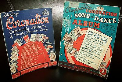 2 x VINTAGE 1930's CORONATION MUSIC SHEET BOOKS (Sterling/Chappell)
