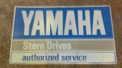 Vintage Yamaha Stern Drive  Authorized Service Metal Advertising Sign Outboard