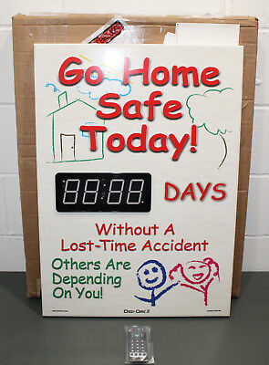 """Accuform Signs Electronic Safety Scoreboard SCK106, 29"""" x 20"""", Aluminum Counter"""