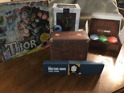 5 Item Subscription Box Items Loot Crate & GeekFuel THOR, Harry Potter, Dr.Who