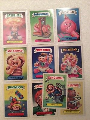 2015 GARBAGE PAIL KIDS 30th Anniversary Foreign Legion Complete 10 Card Set