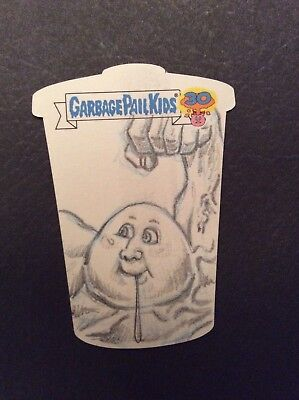 2015 GARBAGE PAIL KIds 30th Anniversary Sketch Card David Gross