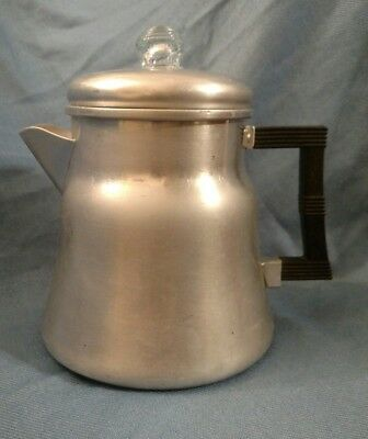 Vintage Wear Ever No. X3008 Stove Top Coffee Pot Percolator Camping Coffeemaker