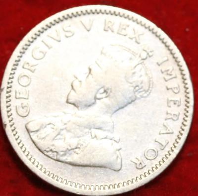 1933 South Africa 6 Pence Silver Foreign Coin