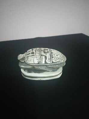 ANCIENT EGYPTIAN ANTIQUE STATUE Scarab Mummy Amulet Bead Nile Ca 1823 Bc