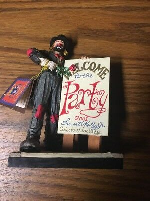 Emmett Kelly Jr Clown Figurines Collectors Society Welcome to the Party 2001