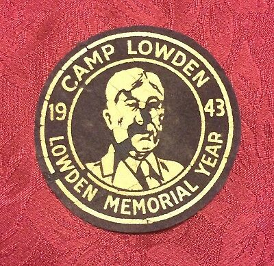 Boy Scout Camp Lowden 1943 Lowden Memorial Year patch