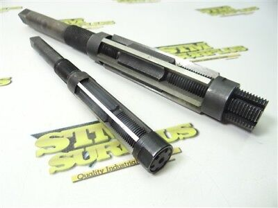 """Pair Of Cleveland Hss Adjustable Hand Reamers Size """"f"""" & """"j"""""""