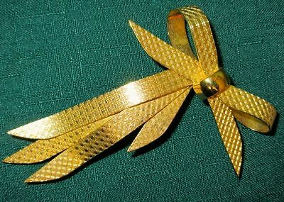 Christian Dior Signed Vintage Large Bow Pin Brooch 1960s