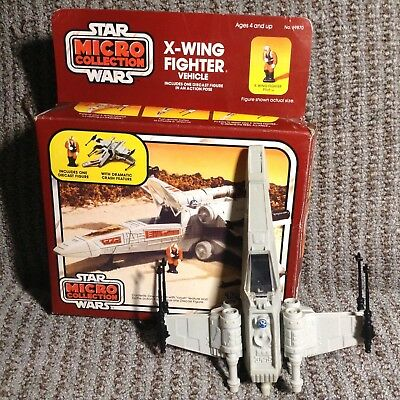 X-Wing Fighter Crash 1982 Micro Collection STAR WARS Vehicle and Box 69870