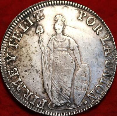 1835 Peru 8 Reales Silver Foreign Coin