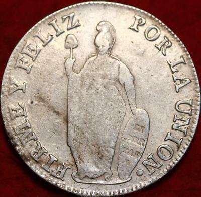 1836 Peru 8 Reales Silver Foreign Coin