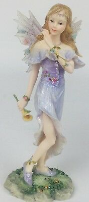 "Brand New 6/"" Satis-5 Resin Flower Girl Fairy Angel Figure Figurine 7228 C"