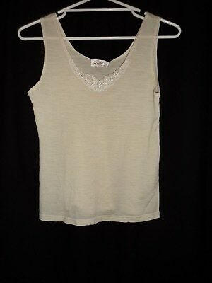Ladies Thermal Sleepwear Top Lingerie Merino  Georges Size Xl Sleeveless Cami